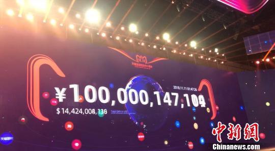 天猫双11纪录一再刷新:1小时47分完成1000亿交易额