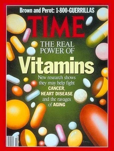 1992年时代周刊封面《维生素的真实力量》
