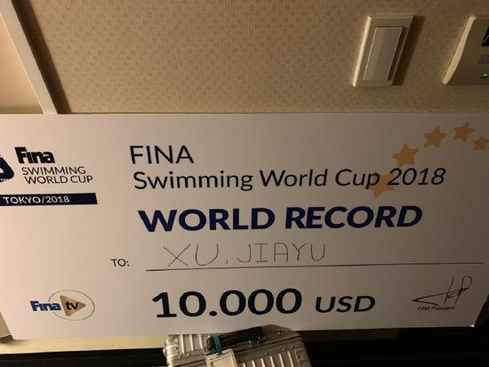 徐嘉余破100米仰泳世界纪录 国外解说惊呼不敢相信
