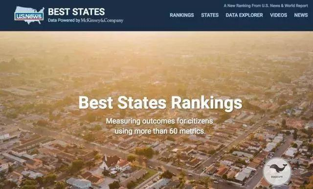 数据丨2017年美国各州实力排名榜出炉