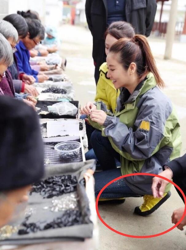 赵薇穿六千块的鞋下乡做慈善,网友:还是林心如低调