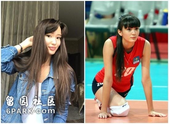 莎宾娜近日晒照(左)与比赛时样貌(右)差异大。